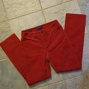 Talbots Corduroy Pants in Dark Orange